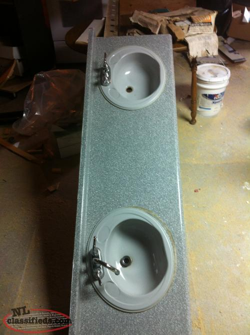 Bathroom Countertop With Double Sinks For Sale Cbs