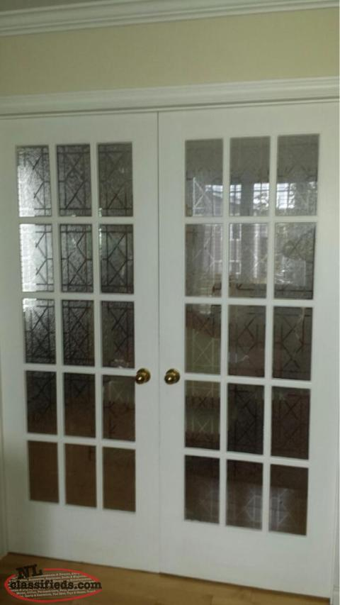 Solid wood french doors mount pearl newfoundland for Solid wood door construction