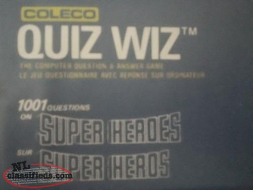 1970's Coleco Quiz Wiz Electronic Computer Game with box
