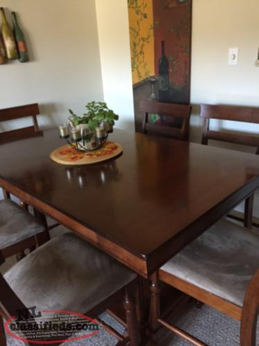 large pub style dining table and 6 chairs mount pearl newfoundland
