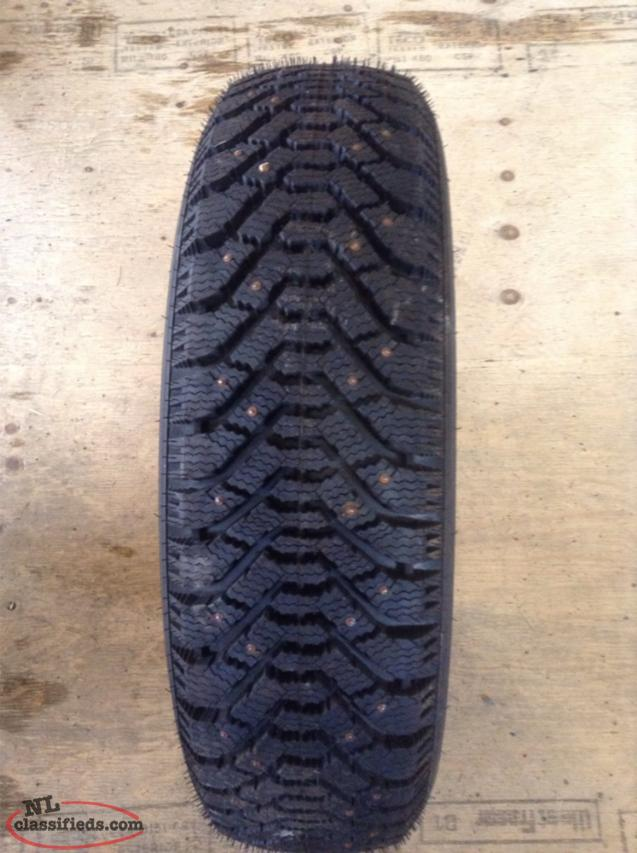 P205/75R15 Brand New Goodyear Nordic Studded Snow Tire