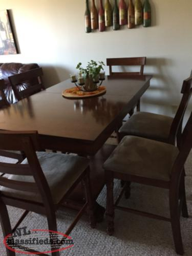 pub style dining set with six chairs mount pearl