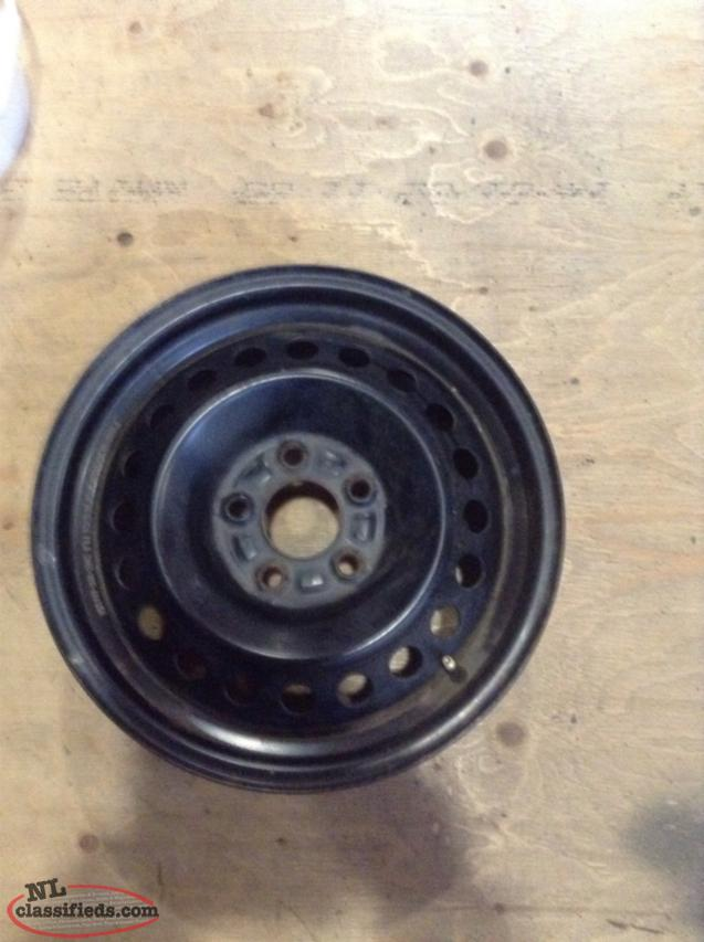 "15"" Ford Focus Black Steel Rims With 5 Lug X 108mm Bolt Pattern"