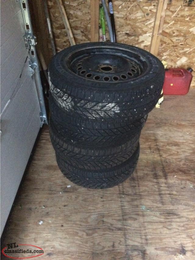 205 55r16 4 studded winter tires on rims for sale 250 c b s newfoundland. Black Bedroom Furniture Sets. Home Design Ideas