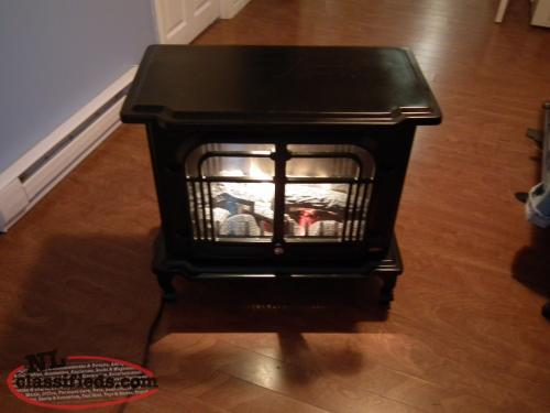 Coleman Portable Electric Fireplace Mount Pearl