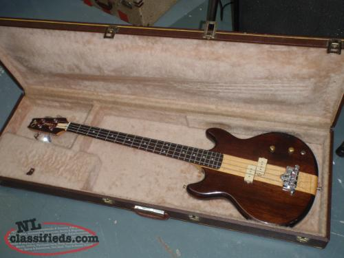 80's VANTAGE BASS GUITAR AND CASE