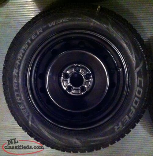 235 60 R18 Rims And Studded Winter Tires 5 X 114.3 Bolt