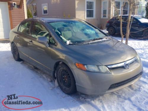 for sale 2007 civic sedan lx 5 speed manual transmission. Black Bedroom Furniture Sets. Home Design Ideas