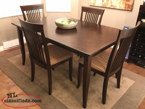 Canadel solid birch dining table st john 39 s newfoundland - Birch kitchen table ...