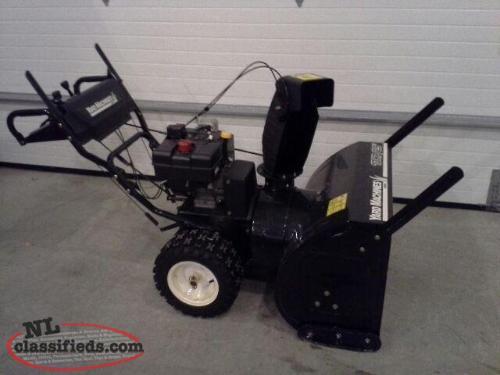 yard machine 10 hp snow blower