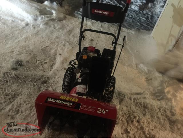 24 yard machine snowblower