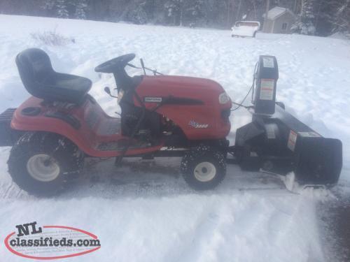 Craftsman Lawn Tractor Snow Blower : Craftsman lawn tractor snowblower no spark deer lake