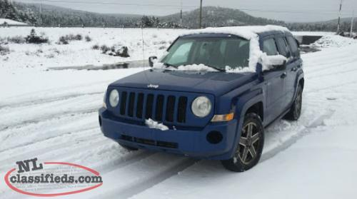 2009 jeep patriot 4 wheel drive newman 39 s cove newfoundland. Black Bedroom Furniture Sets. Home Design Ideas