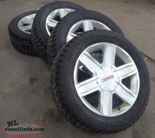 snow tires on alloy rims from gmc terrain mt pearl. Black Bedroom Furniture Sets. Home Design Ideas