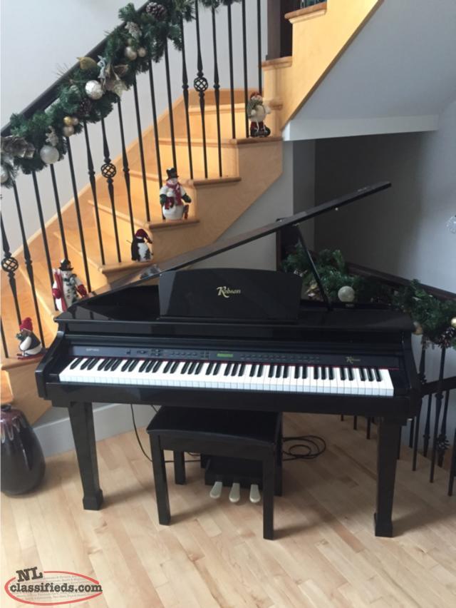Robson digital mini grand piano flatrock newfoundland for Yamaha mini grand piano price