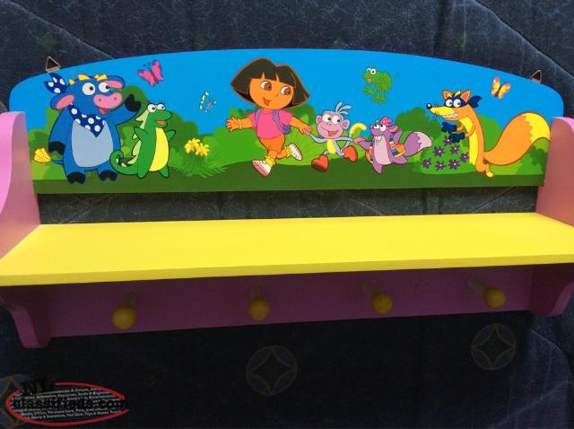 Dora The Explorer Shelf With Hooks For Hanging Clothes