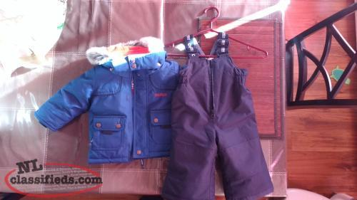 12 month 2 piece snowsuit
