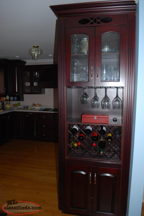 A full set of kitchen cabinets mount pearl newfoundland for Full kitchen cabinet set