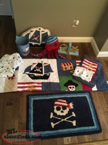 Pirate Theme room bedding and items