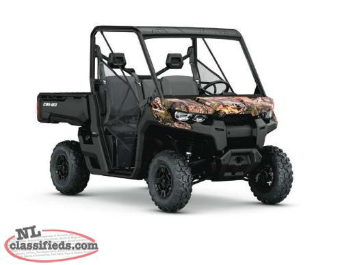 3 YEAR WARRANTY + SAVE $1,500 on a BRAND NEW 2016 Can-Am Defender DPS HD10 CAMO