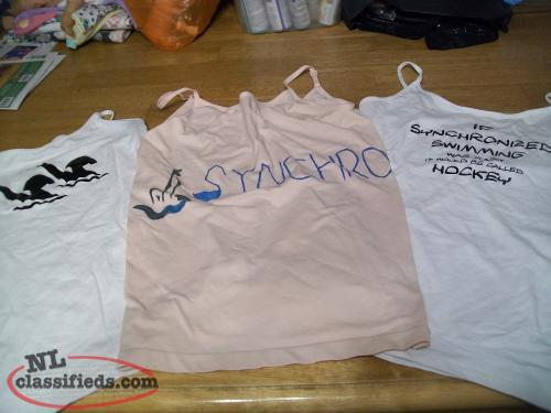 Synchronized swimming tank tops