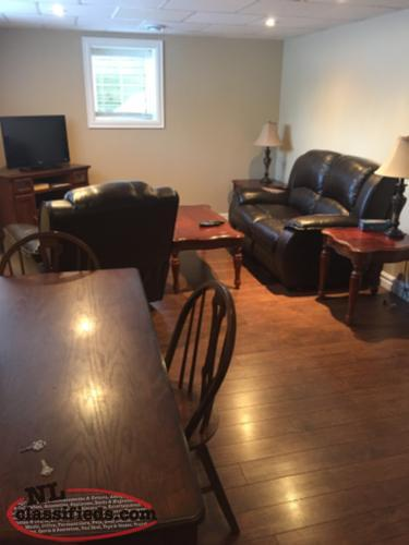 2 bedroom fully furnished apartment in clarenville all