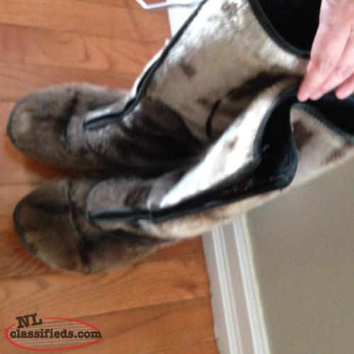 Natural Boutique Seal Skin Boots