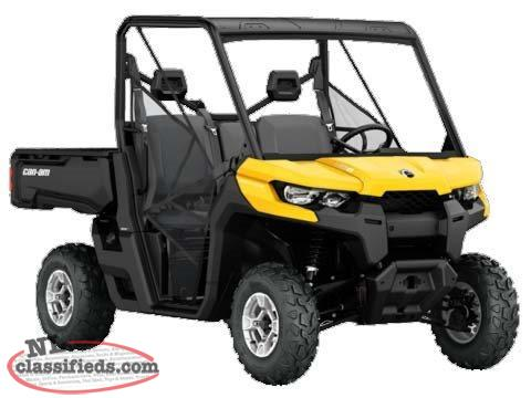 SPRING BLOWOUT-3 YR. WARR. + SAVE $4,100 on a NEW 2016 CAN-AM DEFENDER DPS HD10