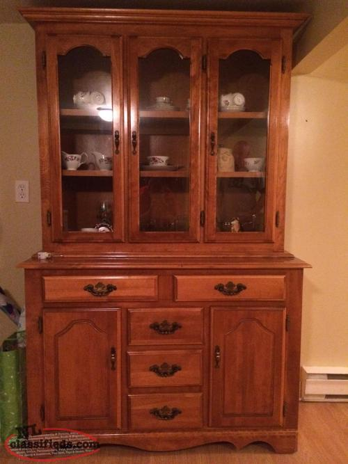 Solid Oak Hutch And Buffet Upper Island Cove Newfoundland