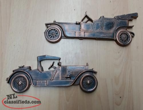 1970's Antique Car Wall Hangers