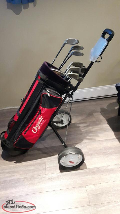 Northwestern CM1 Golf Clubs, Bag and Cart