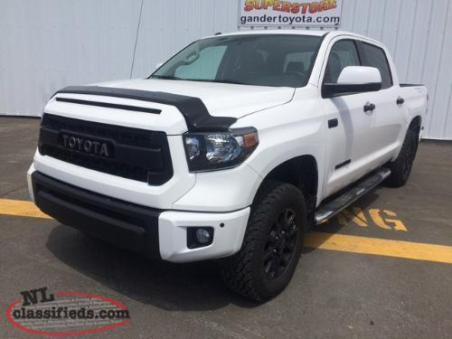 2017 toyota tundra 4x4 crewmax sr5 plus 5 7l trd pro pkg gander newfoundland. Black Bedroom Furniture Sets. Home Design Ideas