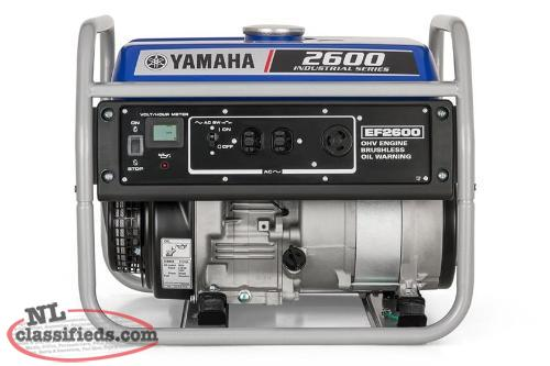 Save $400.00 On A New Yamaha EF26C1 Generator Now $599!! Regular $999