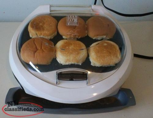 Premium Model - George Foreman - Lean Mean Fat Grilling Machine with Bun Warmer