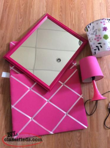Accessories for a young girls room