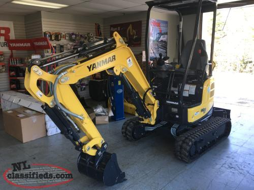 NEW YANMAR EXCAVATORS ARRIVING DAILY!!