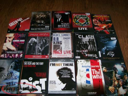 30 DVD Concerts in excellent condition, 1 ot two still sealed