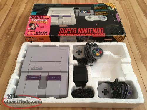 Super Nintendo SNES and Box