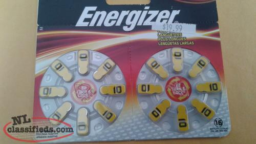 16 Long Tab Energizer Hearing Aid Batteries Size 10