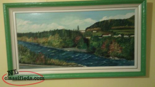 "Original Painting - ""South Brook"" Notre Dame Bay: by H. Saunders"