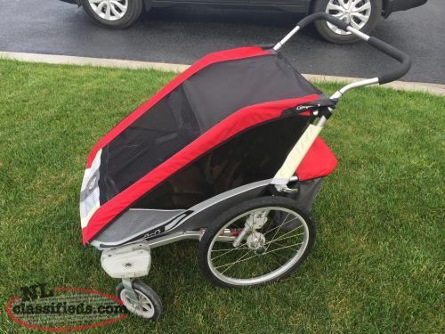 Red Chariot Double Stroller - Excellent Condition