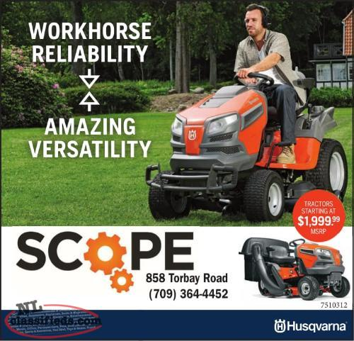 Husqvarna Lawn Tractors Starting at $1999.99