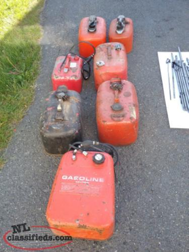 Assorted Metal Gas Tanks
