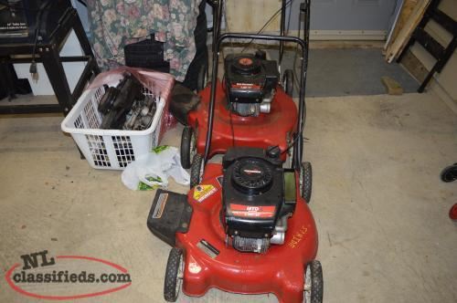 2 Lawn Mowers, a Motor and a new spare blade