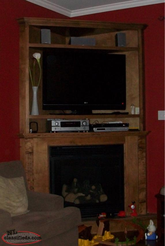 Corner Fireplace Mantle And Entertainment Unit