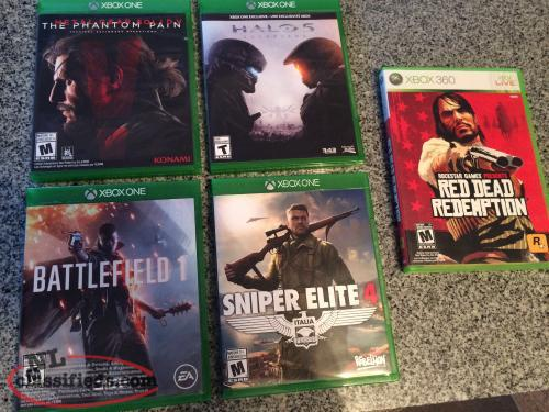 Xbox One Games, mint condition