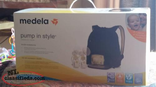 "Medela ""pump in style"" double breast pump."