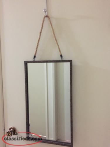 Hanging Mirror on Rope