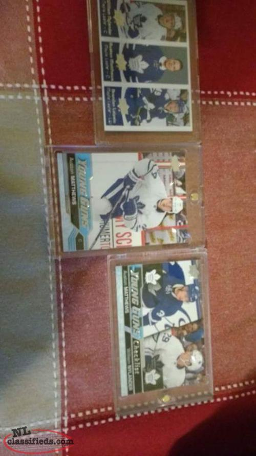 Auston Matthews rookie card and a couple other cards