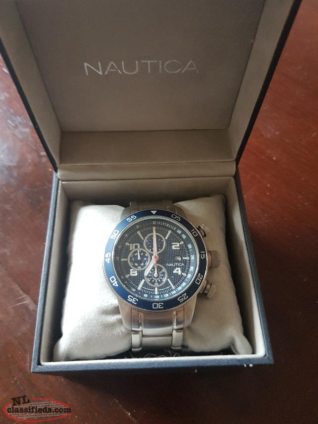 Nautica 51mm chronograph watch